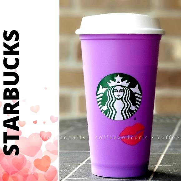 Starbucks Purple Valentines Reusable Hot Cup 16oz